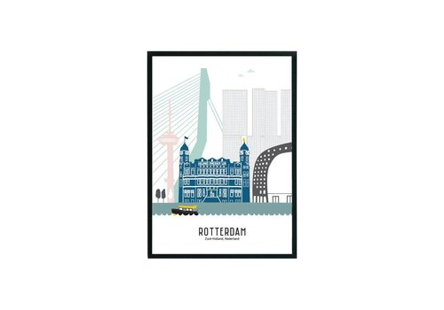 Mevrouw Emmer Rotterdam poster pastel 29,7x42 - A3