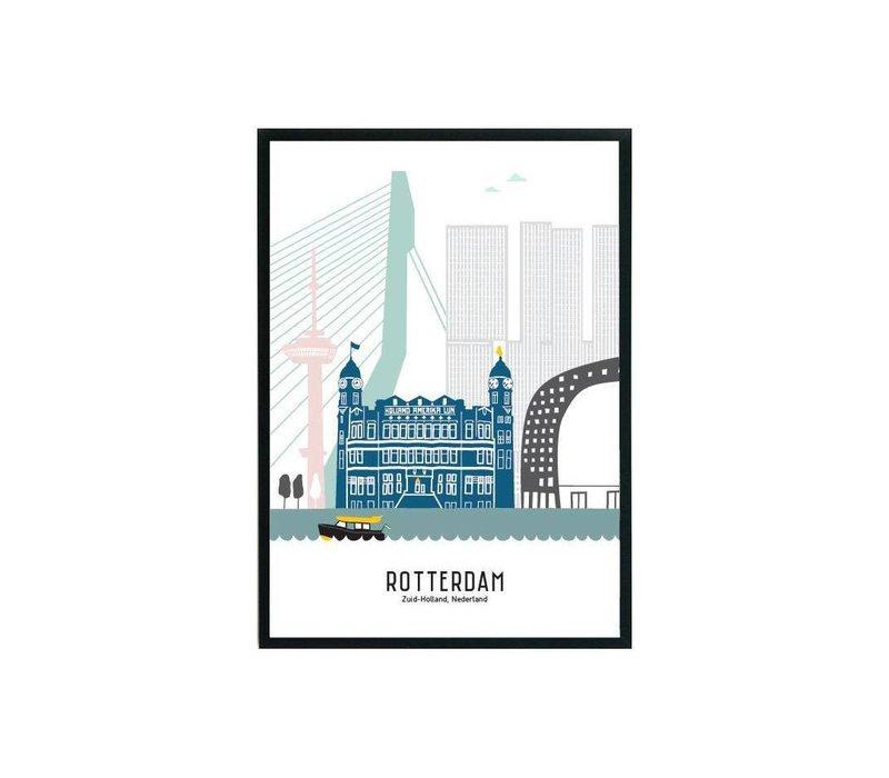 Rotterdam poster pastel 50x70