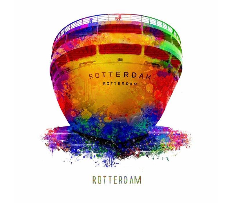 Rotterdam poster   SS Rotterdam   Pop art poster   30x30