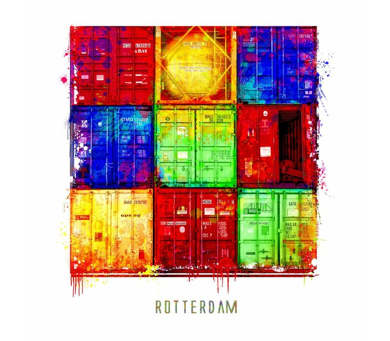 Rotterdam poster | Container | Pop art poster | 30x30