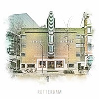 Rotterdam poster | Oude Luxor   Vintage poster | 30x30