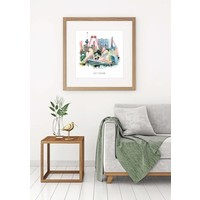 Rotterdam poster | Collage | Vintage poster | 30x30