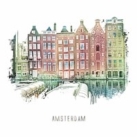 Amsterdam poster | | vintage | 30x30