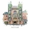Ben Kleyn Amsterdam Tuschinski – vintage 30x30