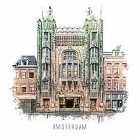 Amsterdam Tuschinski – vintage 30x30