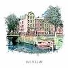Ben Kleyn Amsterdam Prinsengracht 2 – vintage 30x30