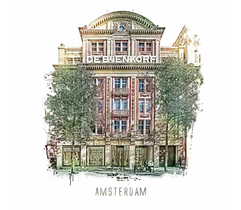 Amsterdam Bijenkorf – vintage 30x30