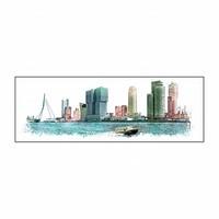 Rotterdam skyline Vintage