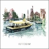 Ben Kleyn Rotterdam poster | Watertaxi | vintage poster | 30x30