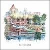 Ben Kleyn Rotterdam poster   Oude haven   vintage poster   30x30