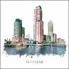 Ben Kleyn Rotterdam poster | Kop van Zuid | vintage poster | 30x30