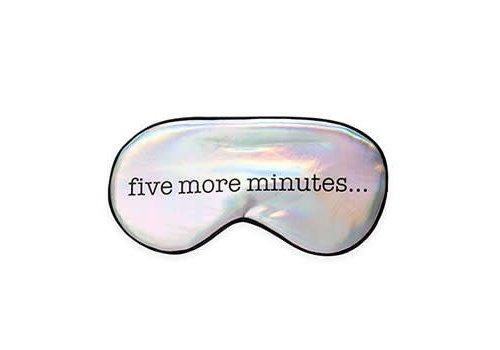 Kikkerland Ultra soft sleep mask - five more minutes