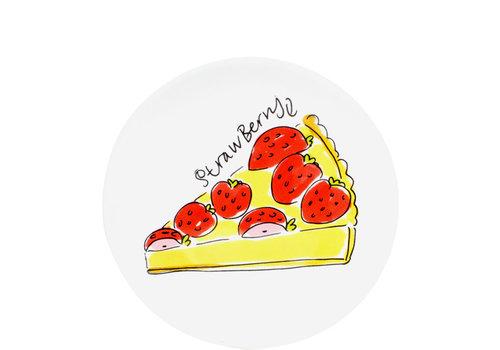 BLOND AMSTERDAM Cake plate strawberry cake