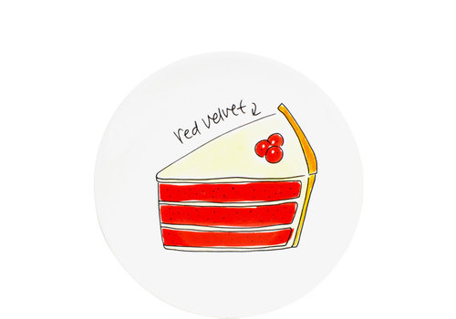 BLOND AMSTERDAM Cake plate velvet cake