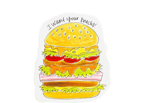 BLOND AMSTERDAM Snack 3D plate Hamburger