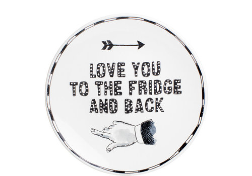 BLOND AMSTERDAM X Noir plate 22cm I love you