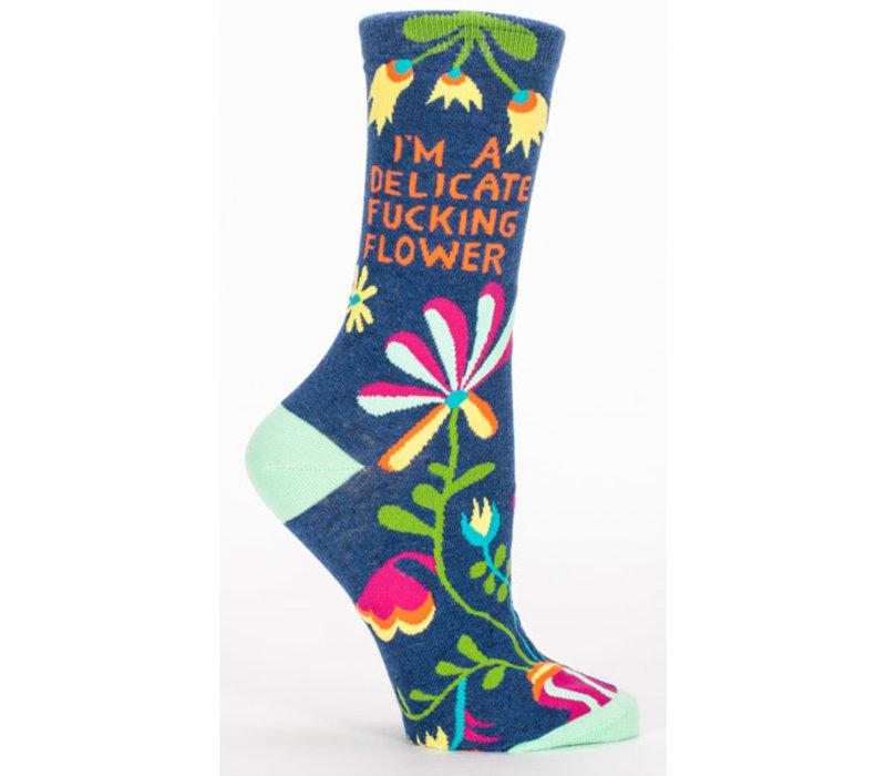 Dames sokken - Delicate Fucking Flower