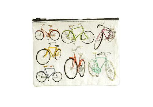 Cortina Zipper Pouch - Bicycles