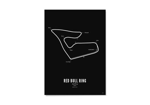 Wijck Poster Circuit Spielberg zwart 50x70