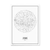 Poster 30x40 - Stars White