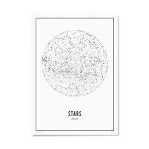 Wijck Poster 30x40 - Stars White
