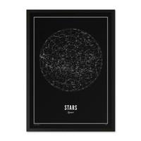 Poster 30x40 - Stars Black