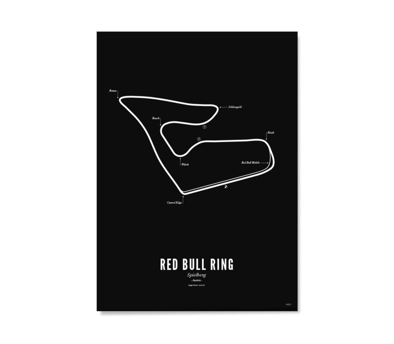 Poster 30x40 - Circuit Spielberg zwart