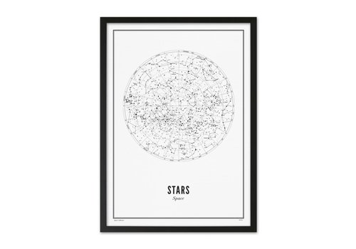 Wijck Poster A4 - Stars White