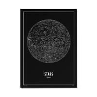 Poster  A4 - Stars Black