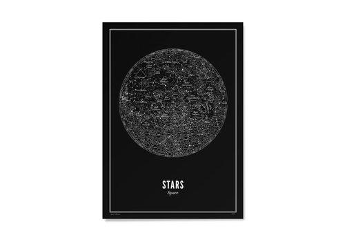 Wijck Poster A4 - Stars Black