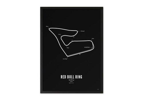 Wijck A4 Poster Circuit Spielberg zwart