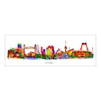 Rotterdam skyline Pop Art