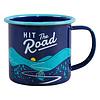 Wild & Wolf Enamel Mug Blue - Hit the road - Emaille Mok