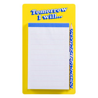 Fridge List Pad  Tomorrow I'll - Magnetische To Do Lijst