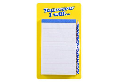 Cortina Fridge List Pad  Tomorrow I'll