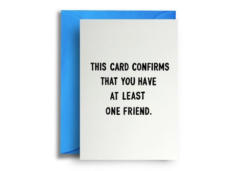Quite Good Cards One friend