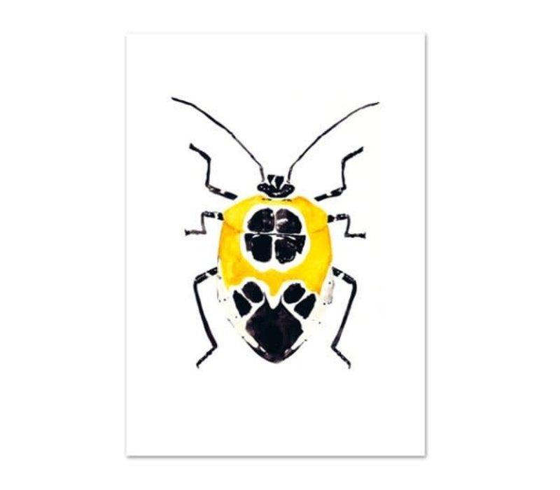 Artprint A4 - Yellow Beetle