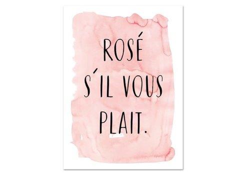 Leo La Douce Artprint A4 - Rosé s'il vous plait
