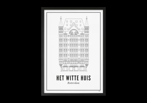 Wijck Poster 30x40 - Rotterdam Witte Huis