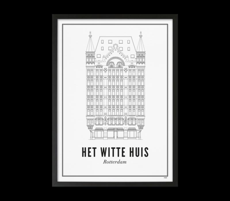 30x40 Poster Rotterdam Witte Huis
