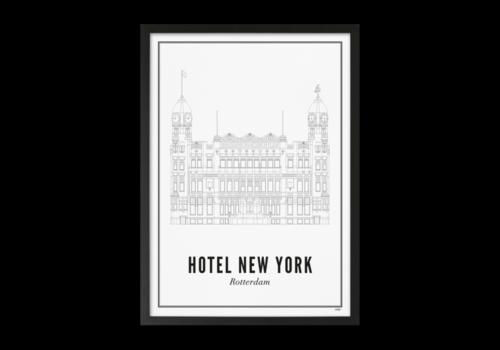Wijck Poster 30x40 - Rotterdam Hotel New York