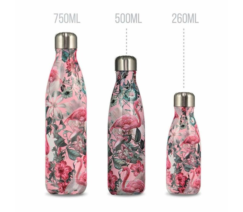 Chilly's waterfles 500ml flamingo