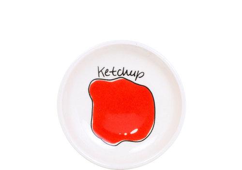 BLOND AMSTERDAM Schaaltje 8cm ketchup