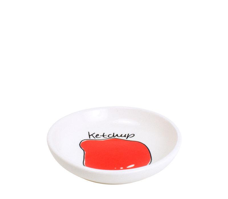 Schaaltje 8cm ketchup