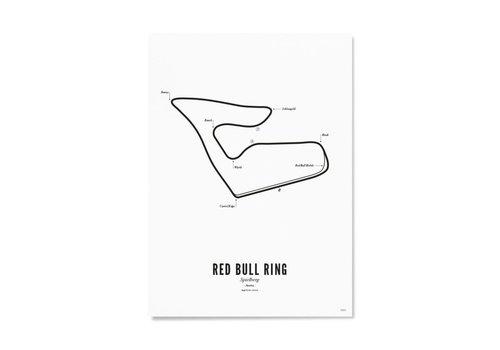 Wijck 30x40 Poster Circuit Spielberg wit