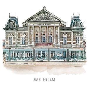 Ben Kleyn Amsterdam poster | concertgebouw | vintage | 30x30