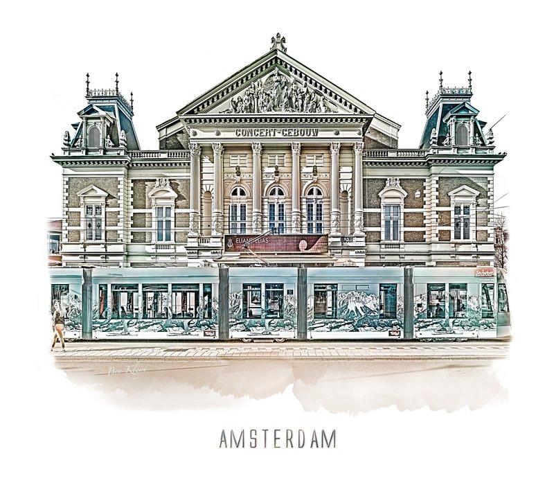 Amsterdam poster | concertgebouw | vintage | 30x30