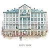 Ben Kleyn Amsterdam poster | Madame Tussaud | vintage | 30x30