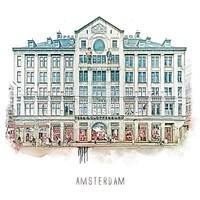 Amsterdam poster | Madame Tussaud | vintage | 30x30
