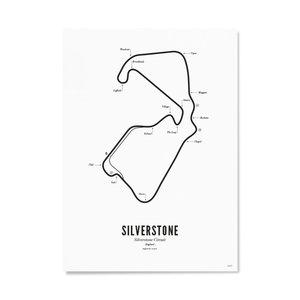Wijck Poster 30x40 - Circuit Silverstone wit